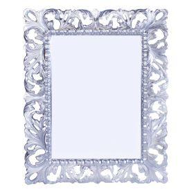 Зеркало интерьерное, серебро, дерево, 87х108 см