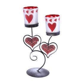 Подсвечник металл 2 свечи для влюбленных