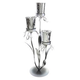 Подсвечник металл 2 свечи Элегантный