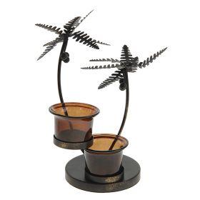Подсвечник металл Под пальмой 2 свечи