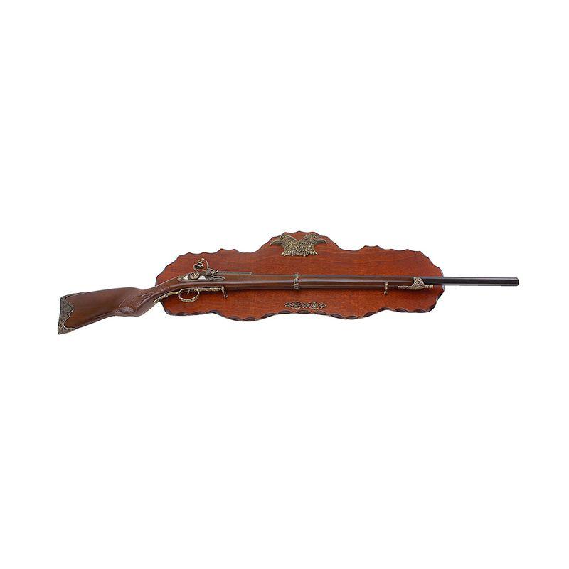 Сувенирное изделие ружье на планшете изогнутый приклад