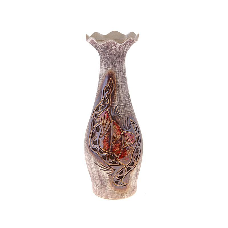 Ваза напольная форма Эллегия оформление красная глина