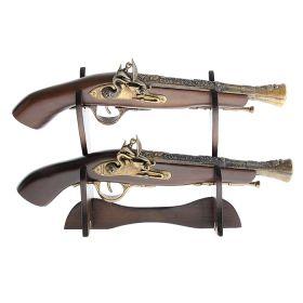 Сувенирное изделие на подставке 2 мушкета с широким дулом