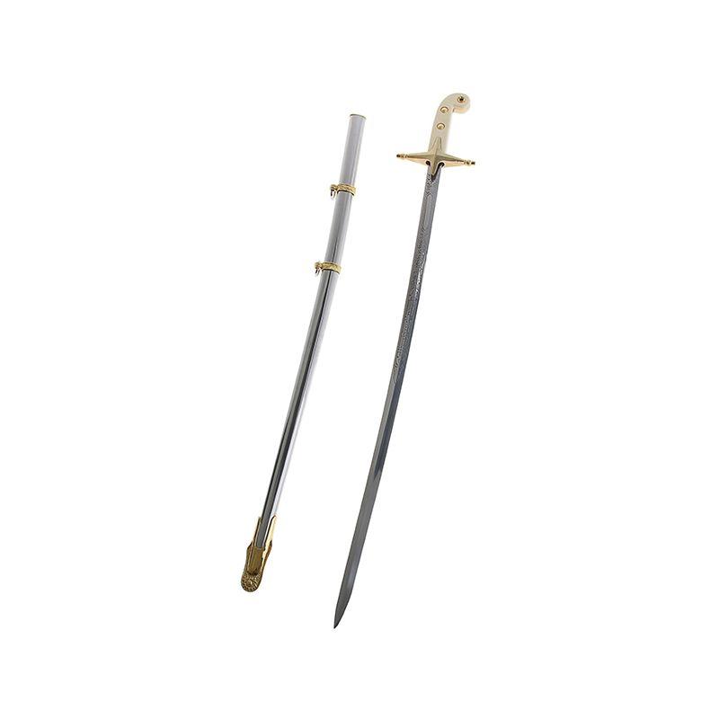 Сувенирное изделие сабля, на клинке USMarine, на рукояти 2 звезды