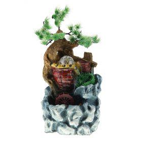 Фонтан бонсай 28*18 см кувшины в скале