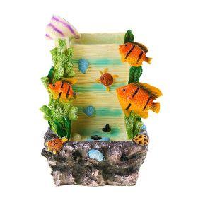 Фонтан морская стена 28*20 см рыбки