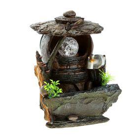 Фонтан сельский дворик 25*18 см кран с водой