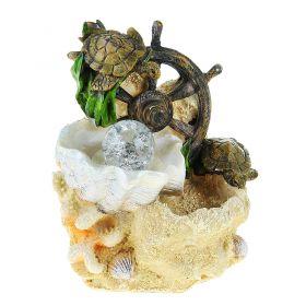 Фонтан морской черепашки на штурвале 18,5 см
