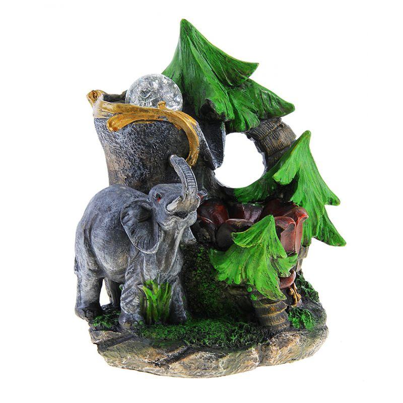 Фонтан веселый слоник 27*18 см стоит