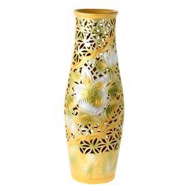 Ваза напольная форма Афина резка оливковый