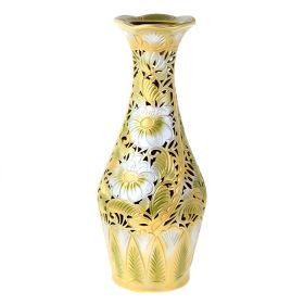 Ваза напольная форма Ромашка резка цвет оливковый