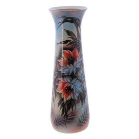 Ваза напольная роспись Цветы форма Варвара 67 см