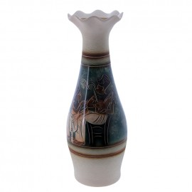 Ваза напольная роспись Египет форма Элегия 64см
