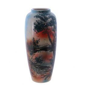 Ваза напольная роспись Природа форма Дана