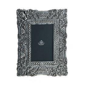 """Фоторамка декоративная серии """"Silver frame"""" латунь, посеребрение, 10*15 см"""