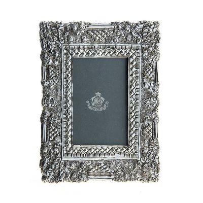 """Фоторамка декоративная серии """"Silver frame"""" латунь, посеребрение, 6*9 см"""