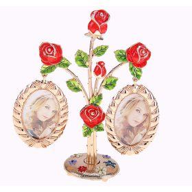 """Фоторамка на 2 фото """"Красные розы"""""""