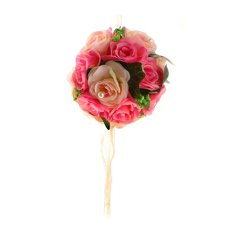 Декор шар d-20 см розы жемчуг