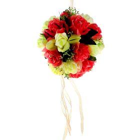 Декор шар d-20 см розы пышность жемчуг