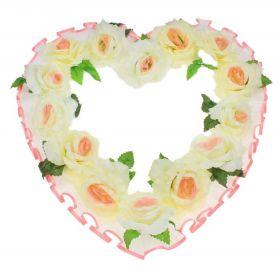 """Украшение для зала """"Сердце"""", бело-розовое"""