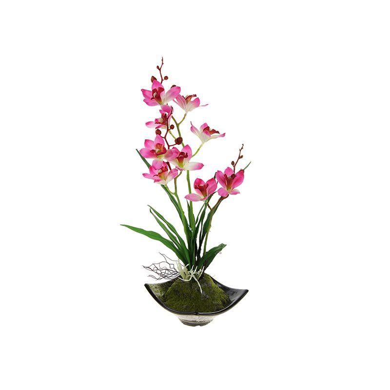 Композиция в горшке 45 см орхидея праздничная