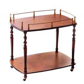 Обеденный столик с ручкой на колесиках,