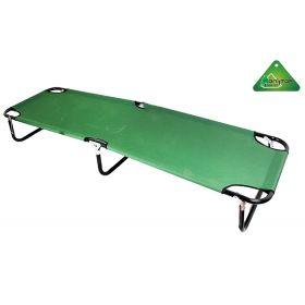Раскладушка туристическая, зеленая 190х55х30 см