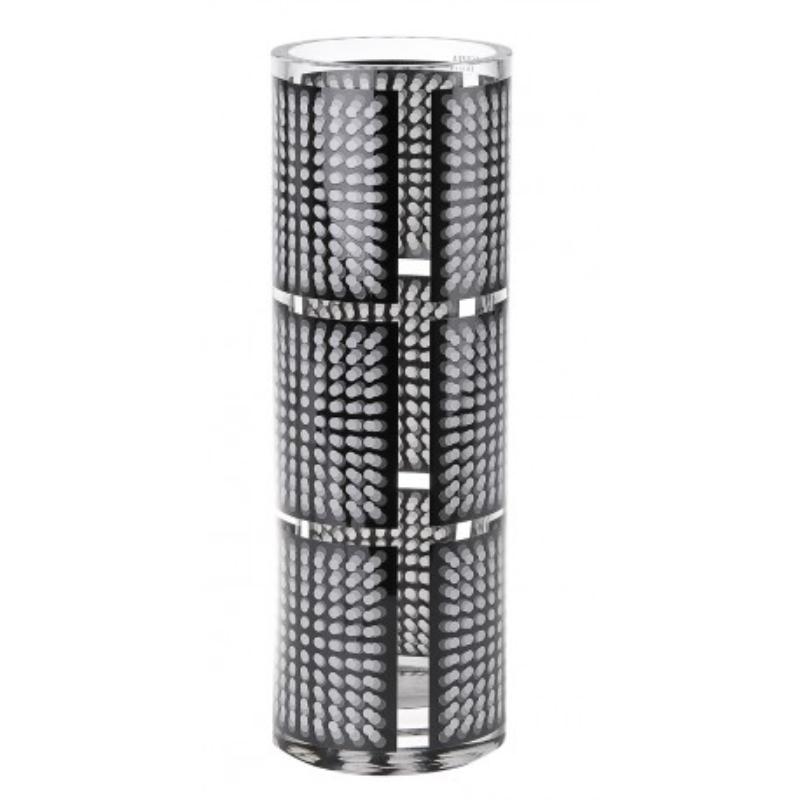 Ваза черная Infinity, дизайн Карим Рашид, высота 35 см, диаметр 12 см