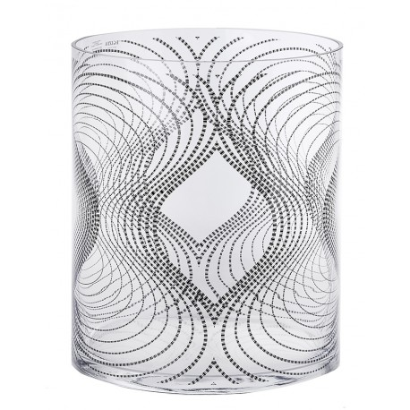 Ваза черная Extra, дизайн Карим Рашид, высота 30 см