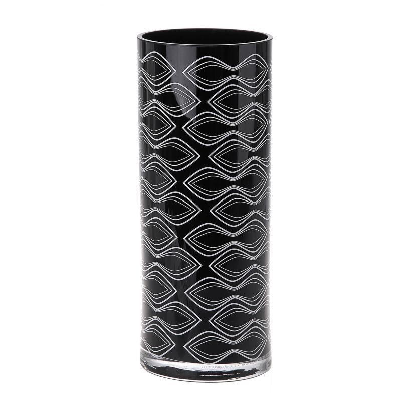 Ваза черная Flash, дизайн Карим Рашид, высота 30 см, диаметр 12 см