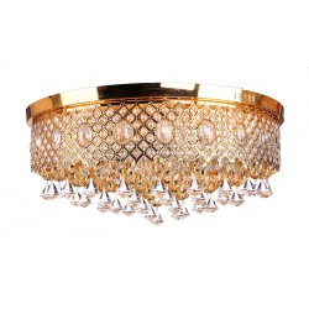 Люстра хрусталь Омела 19 ламп Е14*40W LED*18 золото 80*80*34 см.