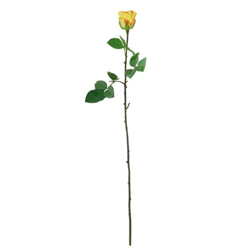 Искусственные цветы Роза ярко-жёлтая