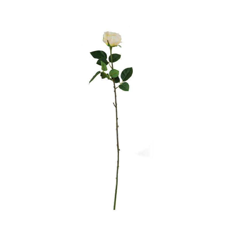 Искусственные цветы Роза нежно-жёлтая