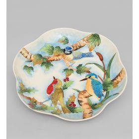 Тарелка декор Птичий хор круг (Pavone)