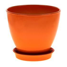 Горшок Ксения 3 3л глянец оранж