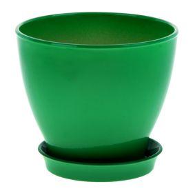 Горшок Ксения 3 3л глянец зеленый