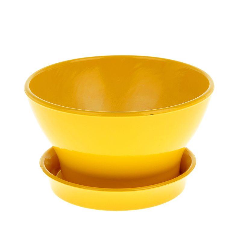 Горшок Ксения фиалочница 19 1,3л глянец желтый