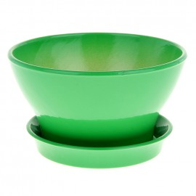 Горшок Ксения фиалочница 19 1,3л глянец зеленый