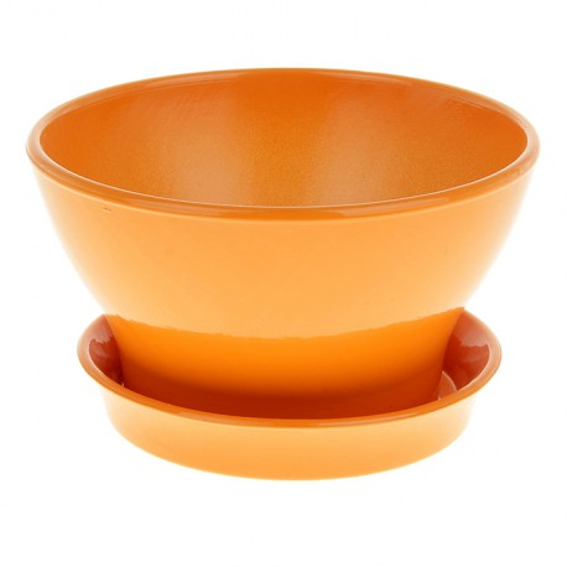 Горшок Ксения фиалочница 19 1,3л глянец оранж