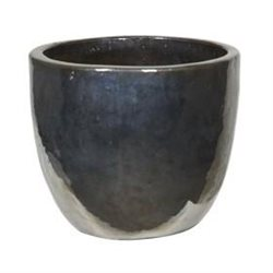 Кашпо (Керамика) Metal Glaze Couple silver-blue, D53xH49см