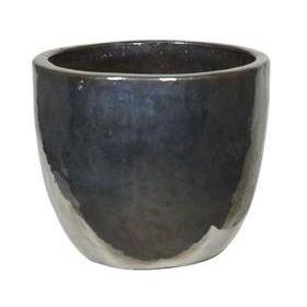 Кашпо (Керамика) Metal Glaze Couple silver-blue, D53xH49см