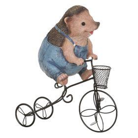 """Кашпо """"ежик на велосипеде"""" 27*14*31 см."""
