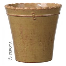 Кашпо макрамэ вазо микс 17см