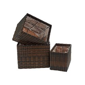 Кашпо декоративное, набор 3шт. 26*17,5*21,5/30*22*25/34*26*28см. (полимерные материалы) (упаковочный пакет opp)