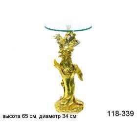 Подставка интерьерная + стекло.высота64 см диаметр34 см