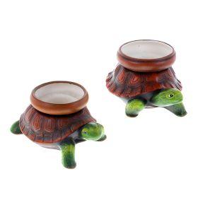 Кашпо №2 черепаха набор 2шт керамика