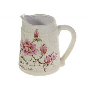 Кашпо керамика крынка 18*18 см магнолия в цвету
