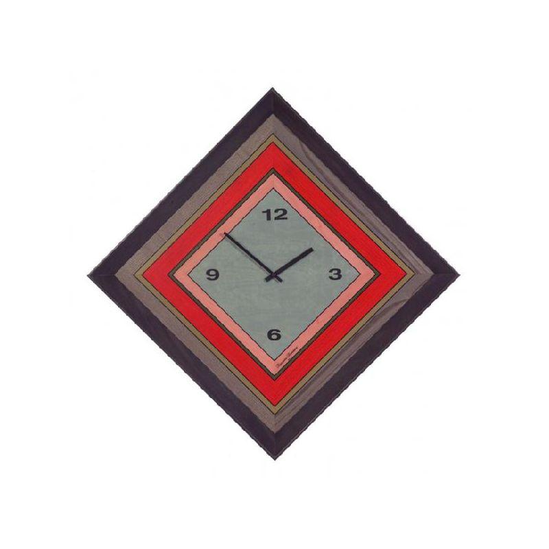 Часы настенные цветная мозаика, дерево,73х73см