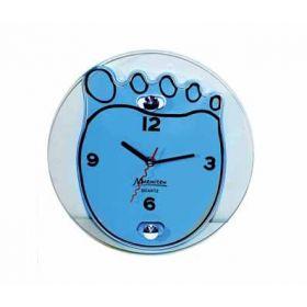 """Часы настенные, стеклянные, 25*20 см, """"Ступня"""" голубые MARMITON"""