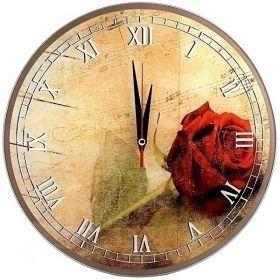 Часы Роза d28 см стеклянные